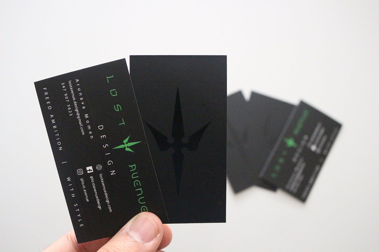 28pt Ultra Thick Matte finish Business Cards with UV Spot ...