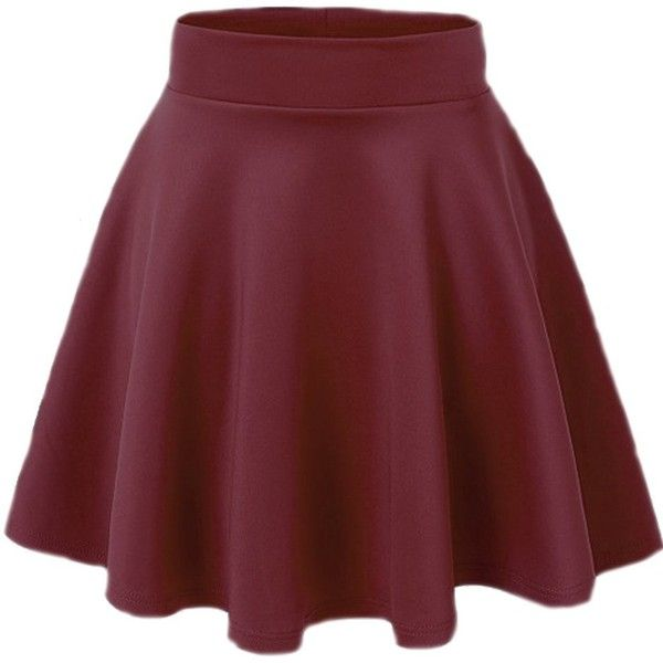 ACEVOG Women's Stretch Waist Flared Skater Skirt Dress Mini Skirt 15... (190 MXN) ❤ liked on Polyvore featuring skirts, mini skirts, bottoms, dresses, skater skirt, short red skirt, short mini skirts, flare skirt and mini skater skirt