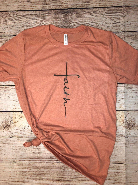 663165058 Faith Tshirt in 2019 | Etsy shop | T shirt, Shirts, Cute shirts
