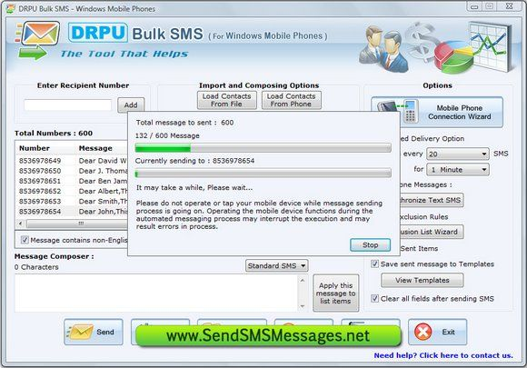 Compatible and convenient SMS Bulk Messages software provides the