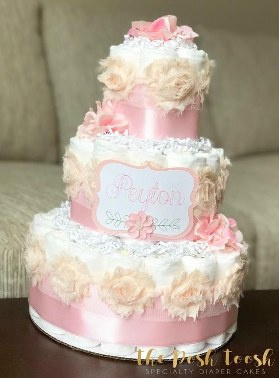 satin pink rose hydrangea diaper cake baby shower centerpiece decor rh pinterest com