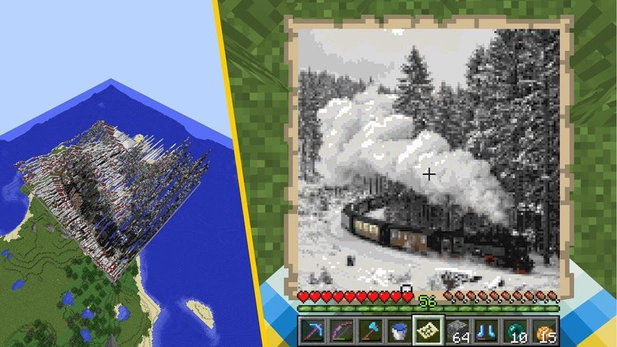 This Minecraft tool converts images into schematics to build