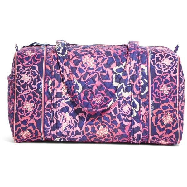 Vera Bradley Small Duffel Travel Bag in Katalina Pink ( 68) ❤ liked on  Polyvore featuring bags 6806b9c8dc3b7