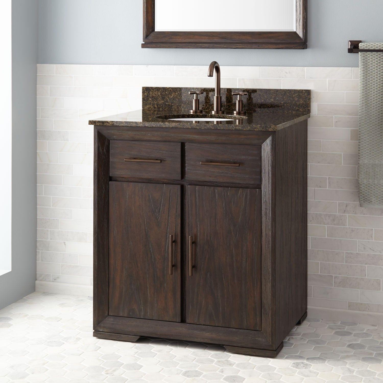 diy distressed bathroom vanity%0A      Davyn Mahogany Vanity for Undermount Sink  Rustic Dark Brown