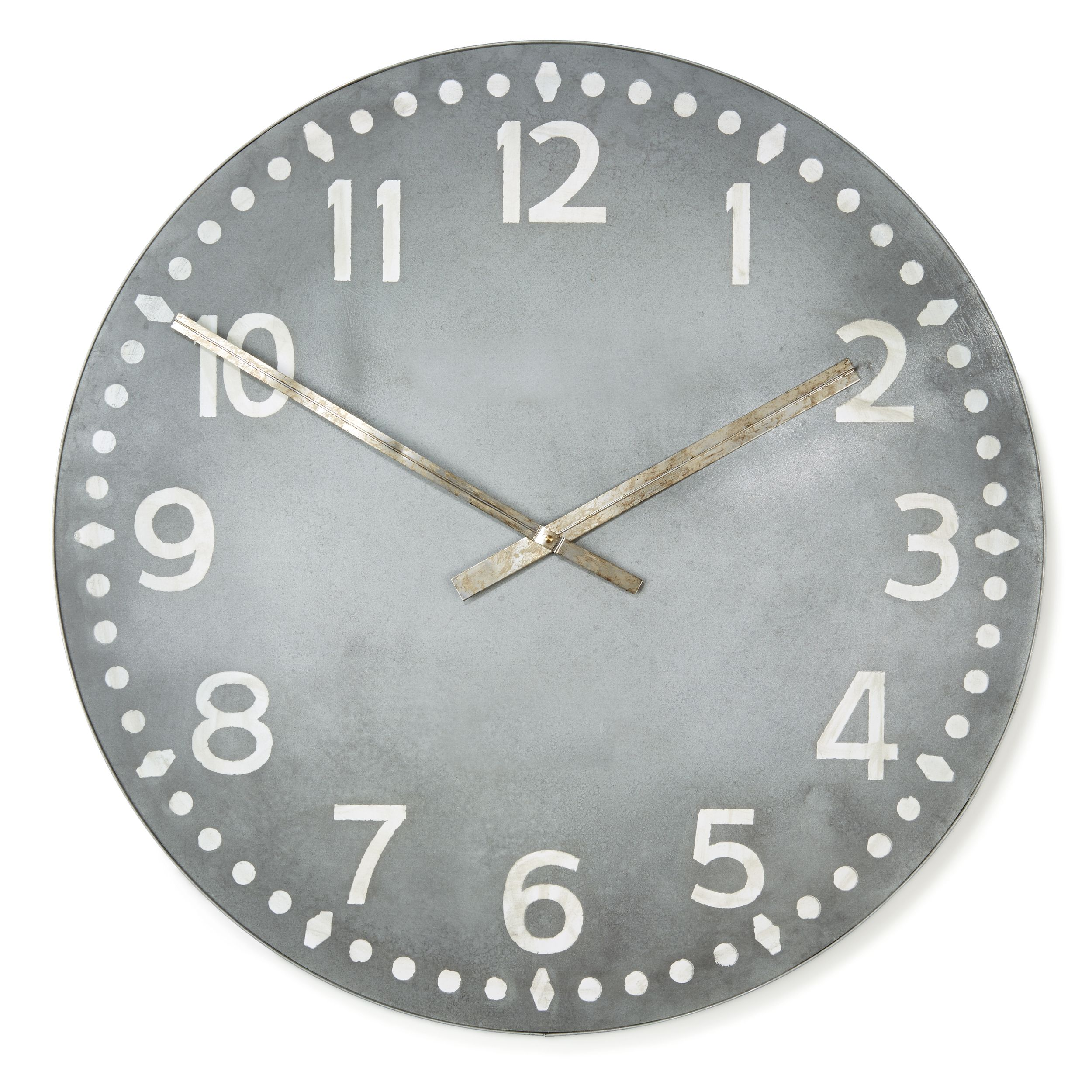 Loft Grey Wall Clock 76cm Diameter Grey Wall Clocks