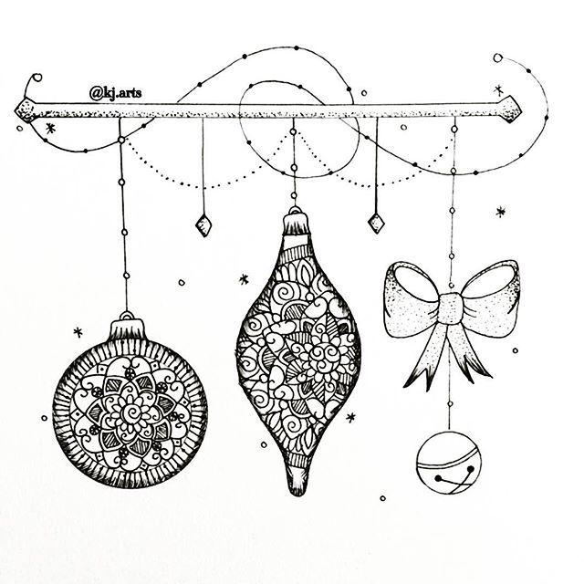 Simple Christmas ornaments🎄 • • • • #art#artoftheday#micronpen#mandala#mandalas#mandalaart#mandalatattoo#tattoo#ornaments#christmas#bow#mtlart#zentangle#zenart#details#dailysketch#mtl#doodle#patterns#penart#mtlart#inkdrawing#illustration#loveart#picoftheday#doodling#zendoodle#heymandalas#mandala_sharing#mtl#zentanglemandalalove#artsbyNK