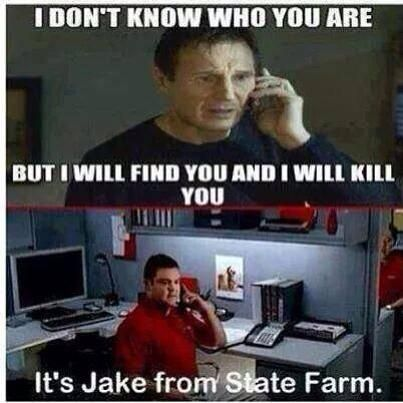 Liam Neeson and Jake from State Farm