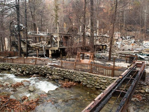 The Remains Of Tree Tops Resort Tuesday Dec 6 2016