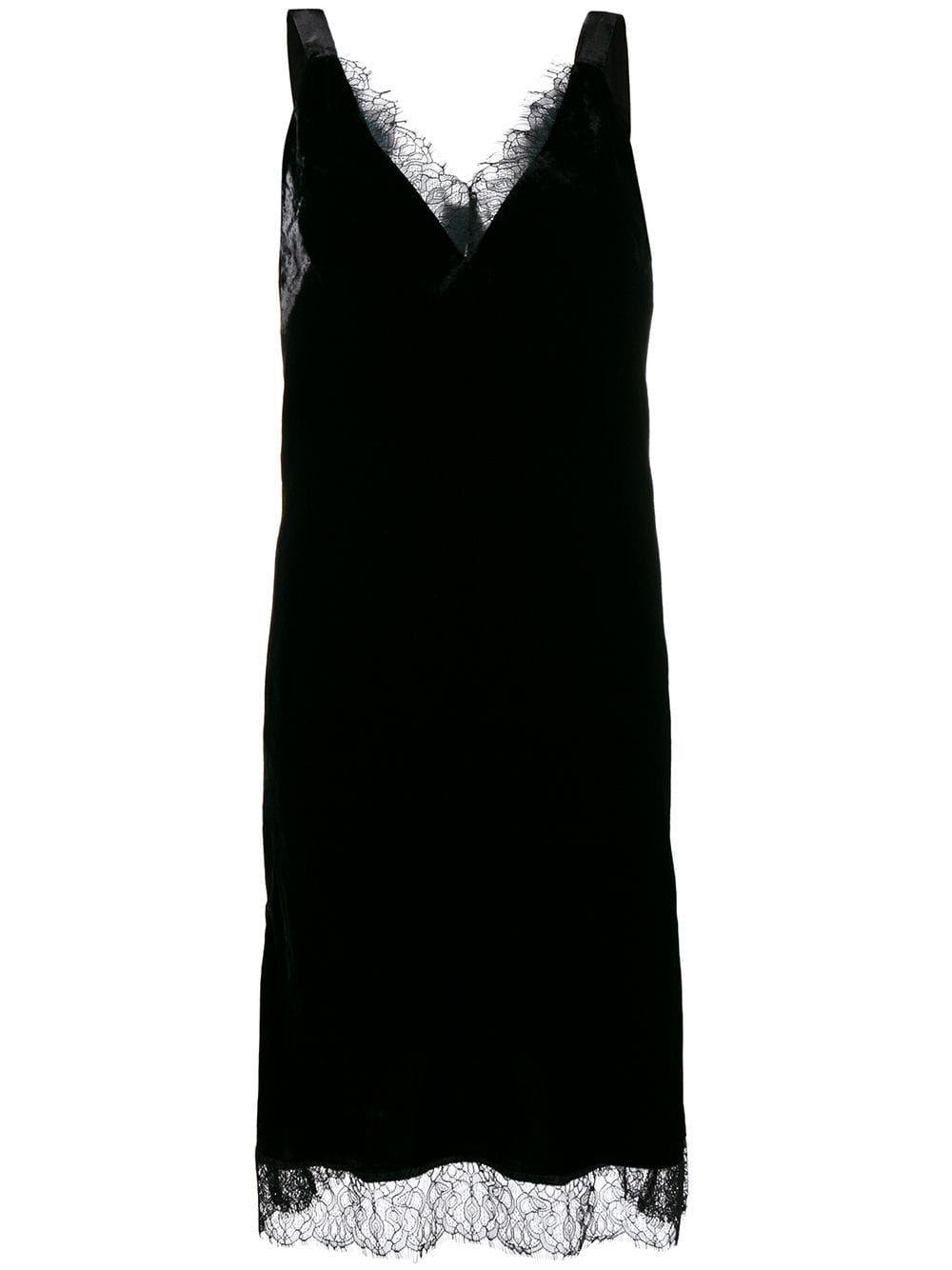 Gold Hawk Lace Trimmed Midi Dress Black Midi Dress Dresses Black Midi Dress