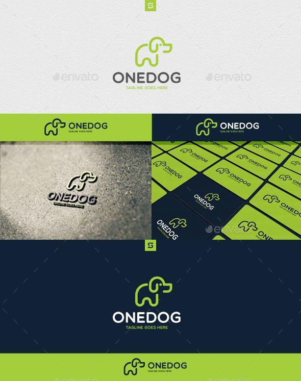 Onedog Logo Template PSD, Vector EPS, AI Illustrator | Logo ...