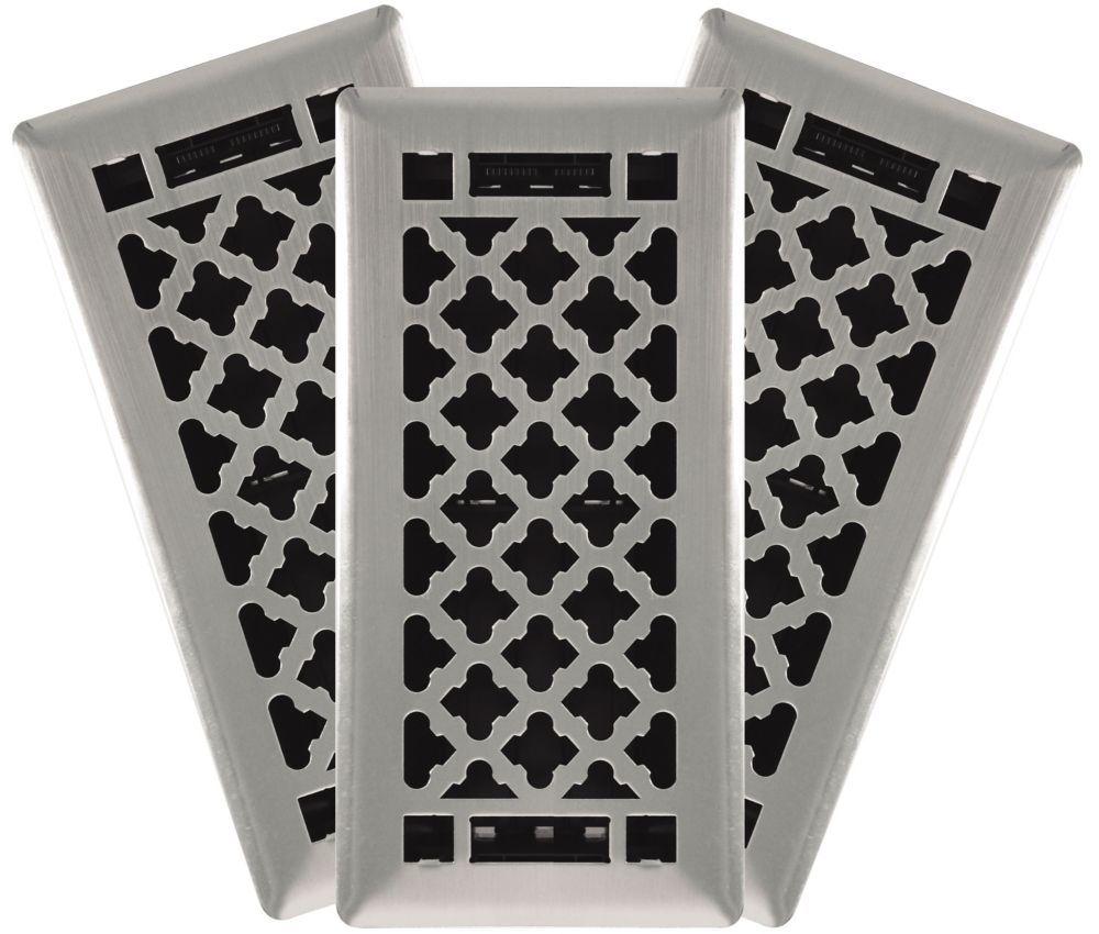 Hampton Bay 4X10 Designer Quatrefoil Floor Register Trio