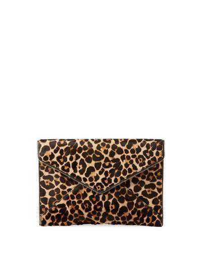 04694c206bc5 V3Z7Z Rebecca Minkoff Leo Leopard-Print Fur Envelope Clutch Bag ...
