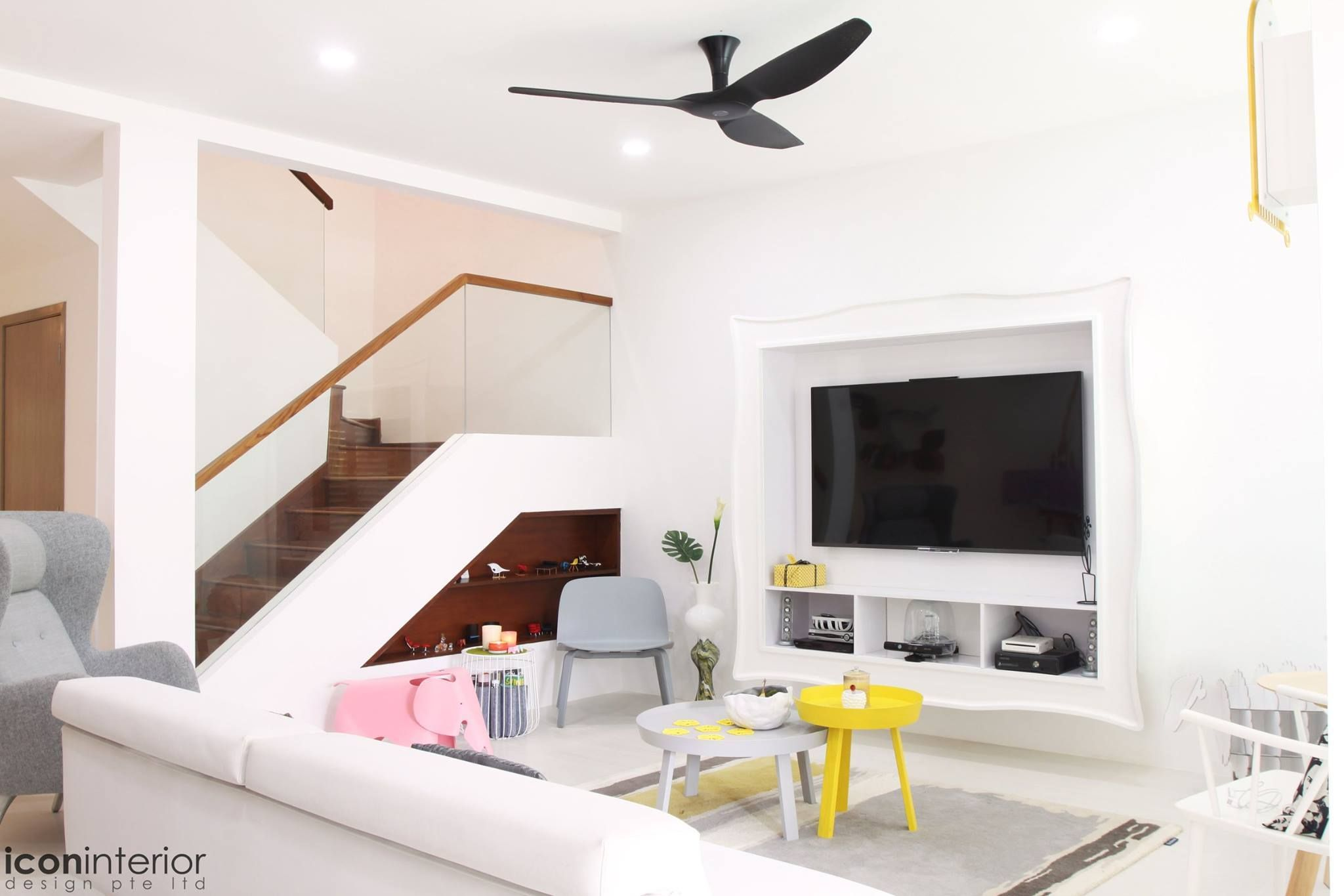 Living Room Design By Icon Interior Pte Ltd Login To Renopedia