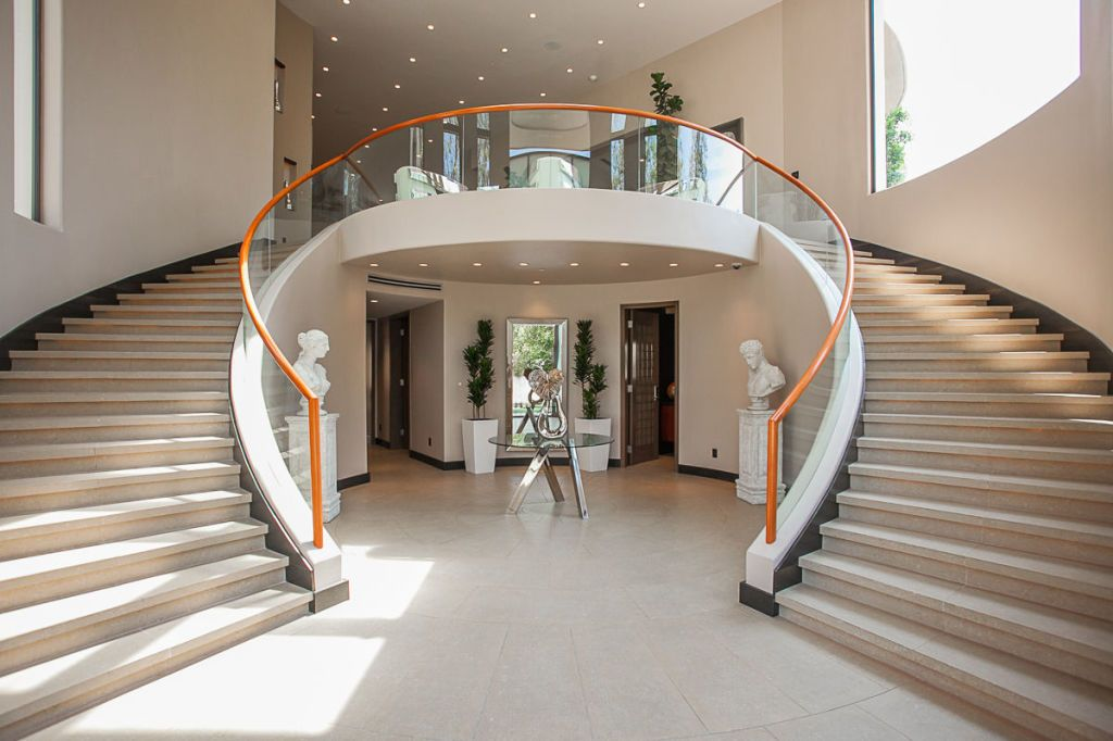 home interior design stairs%0A Rihanna u    s Former Pacific Palisades House Is For Sale