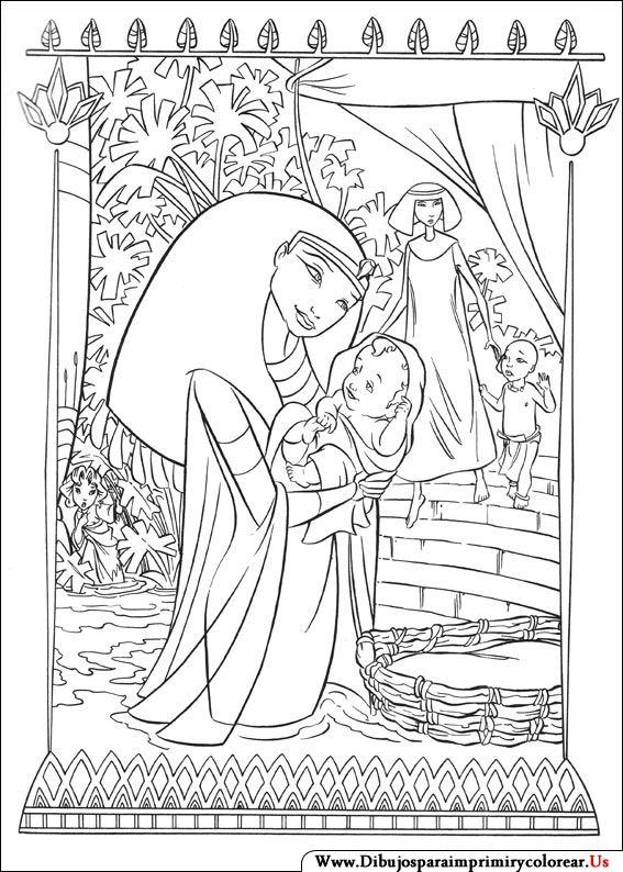 Dibujos de El príncipe de Egipto para Imprimir y Colorear | Vault ...