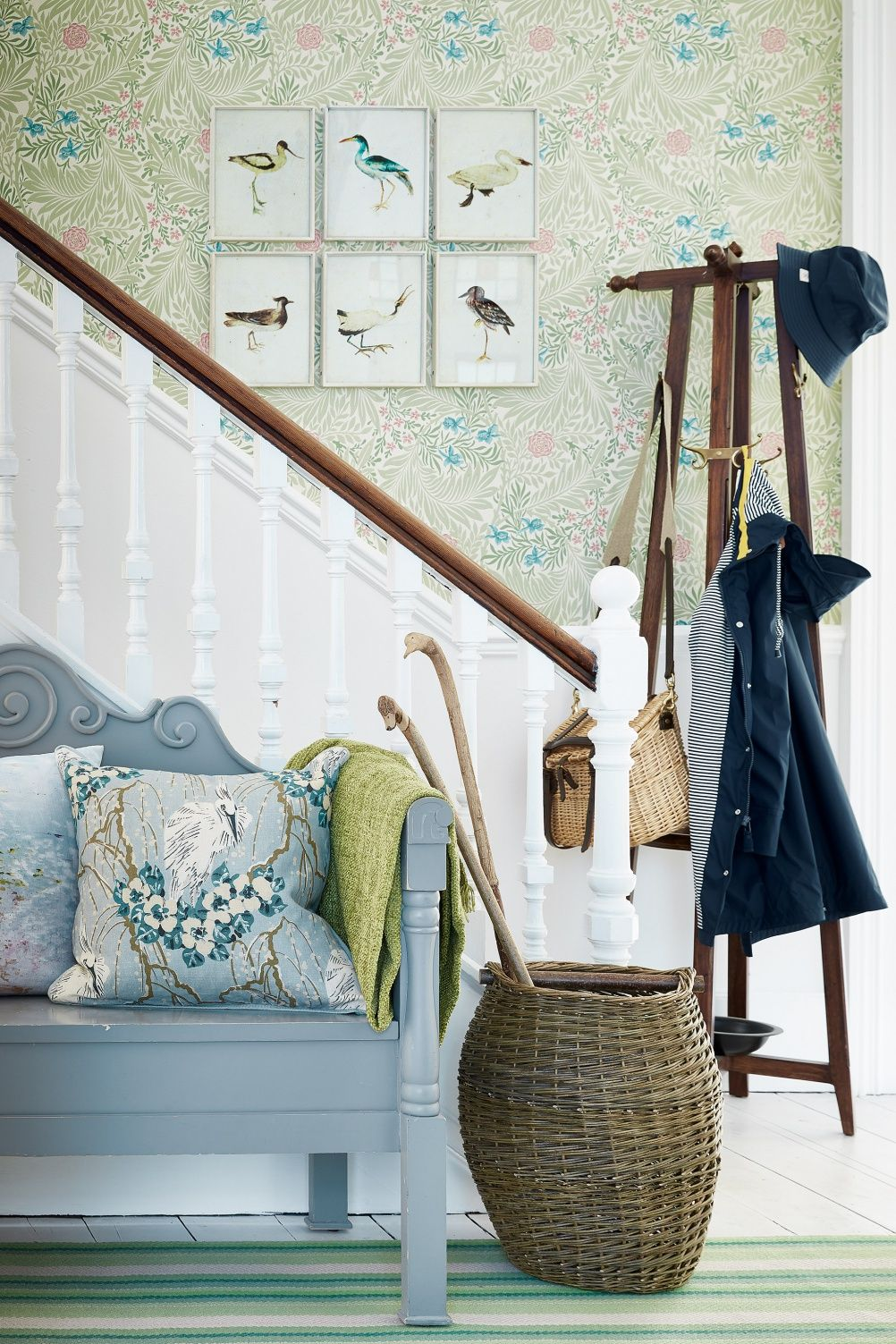 Hallway and stairs wallpaper  hallway stairs decorating    new me  Pinterest  Rivers Choices
