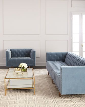 Lynette Tufted Sofa 108.5 in 2019   Office   Sofa, Tufted ...