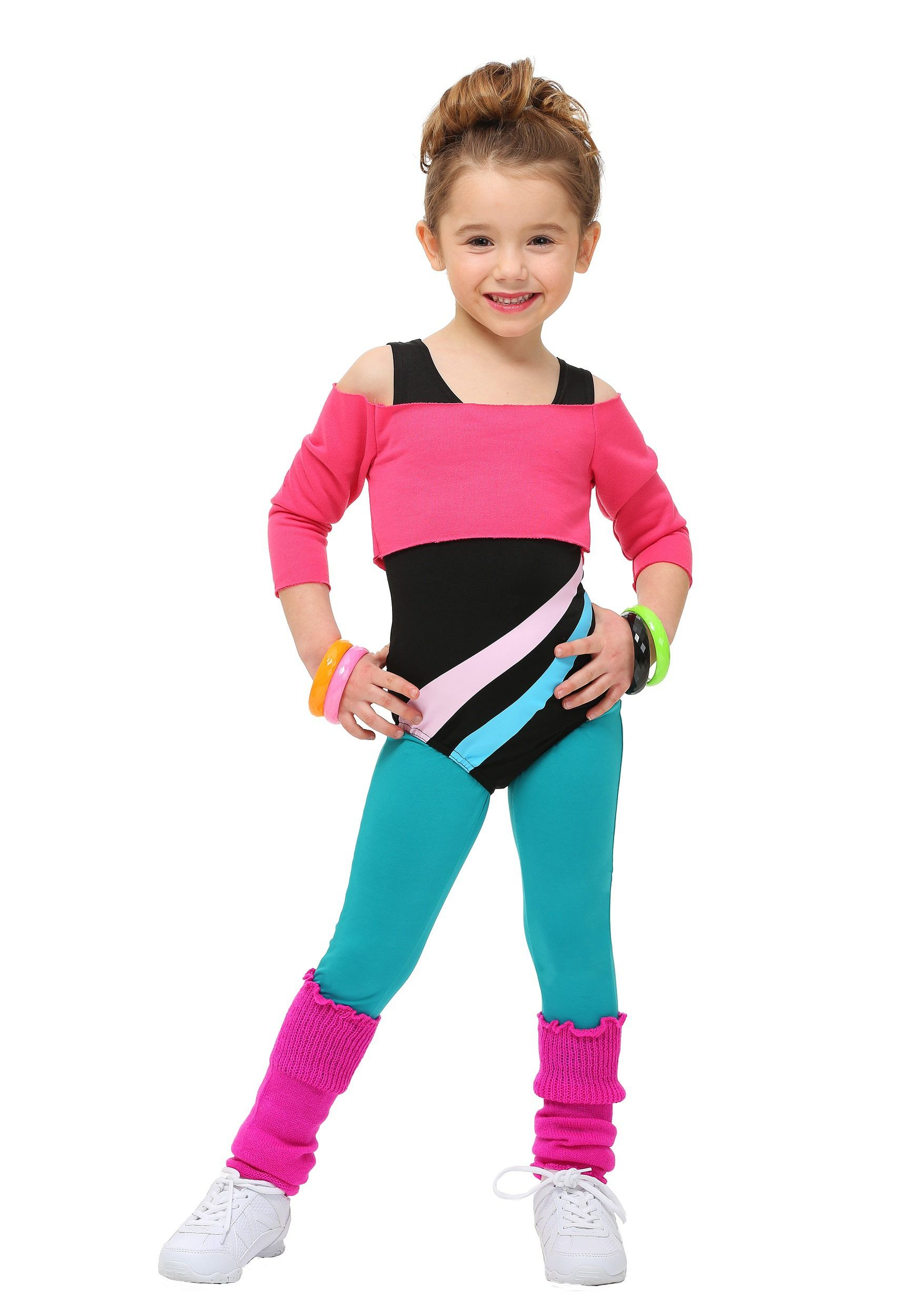 80S Workout Girl Costume  80S Kids Costumes-9053