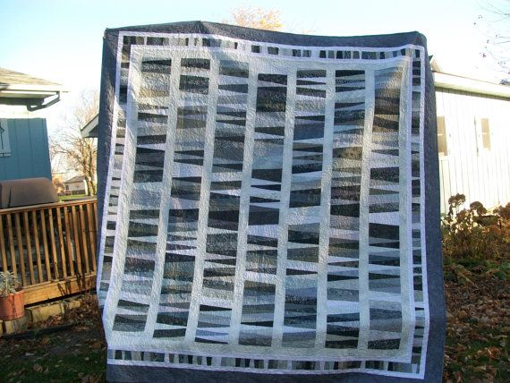 50 Shades of Gray king size quilt. 50 different by QuiltedNeedle  I am in love with this quilt!