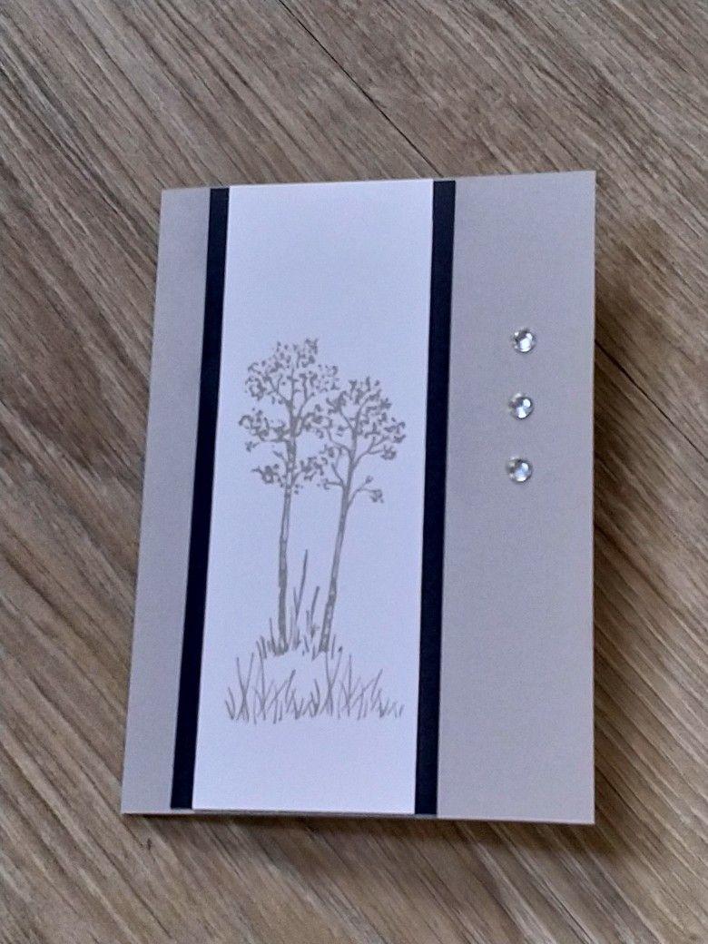 Trauerkarte In The Meadow Stampin Up Trauerkarte Handgemachte Beileidskarten Karten Gestalten