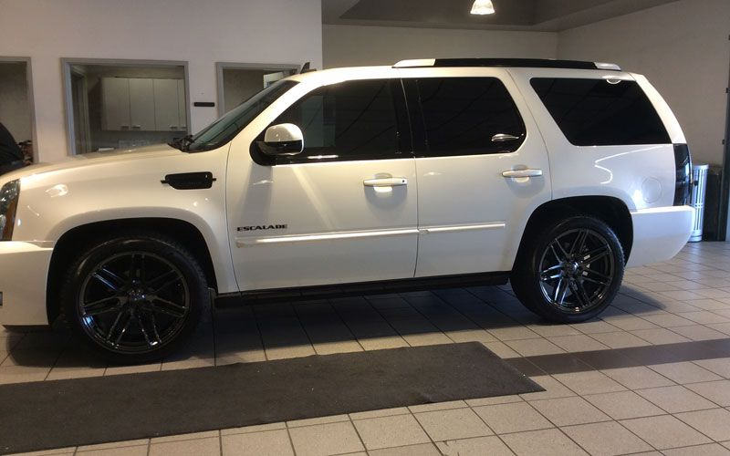 Cadillac Escalade 2015 with VT379 Black PVD Wheels | CARSS | Cadillac escalade, Custom wheels, Cars