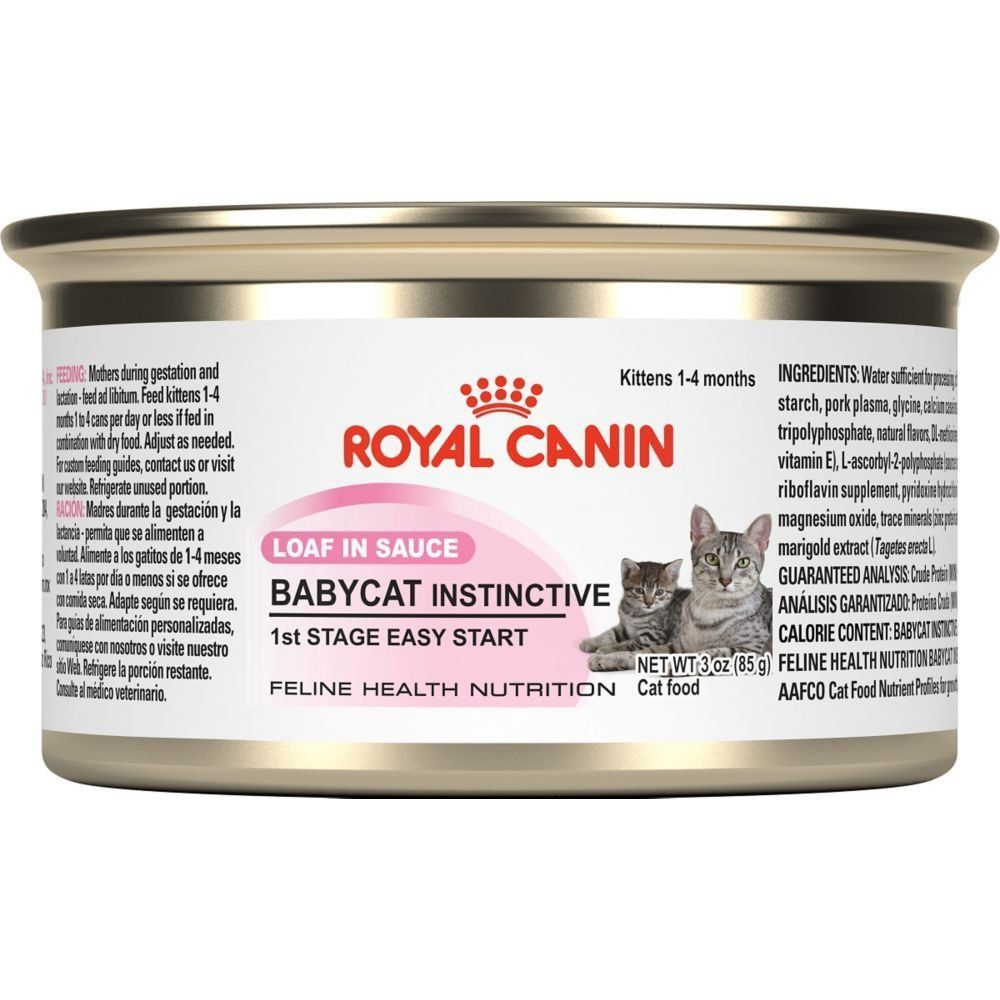 Royal Canin Feline Health Nutrition Babycat Instinctive Loaf In Sauce Canned Cat Food Don T Get Left Behind See Th Canned Cat Food Kitten Food Feline Health