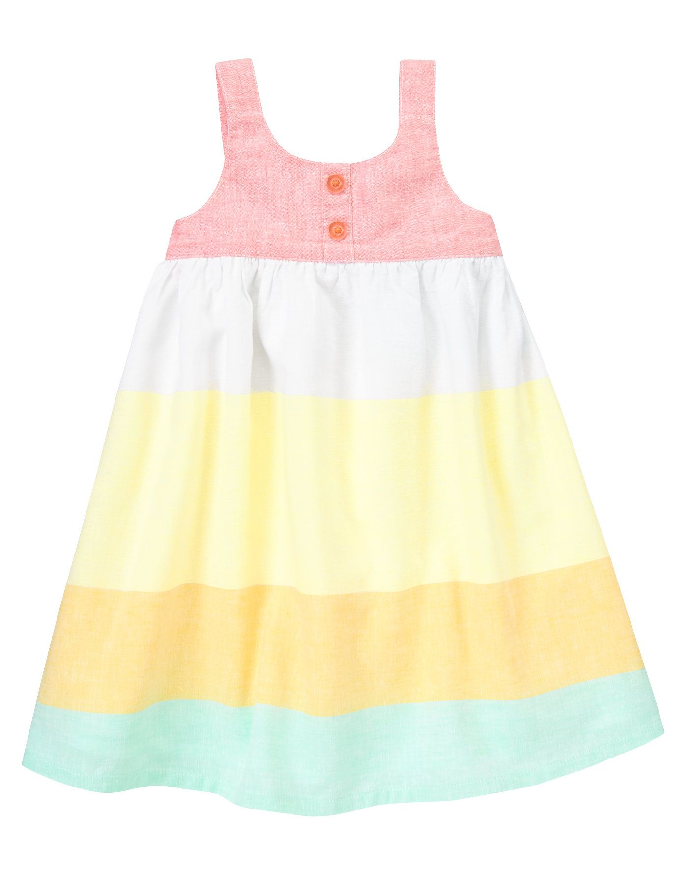 Summer Yellow Linen Toddler Dress