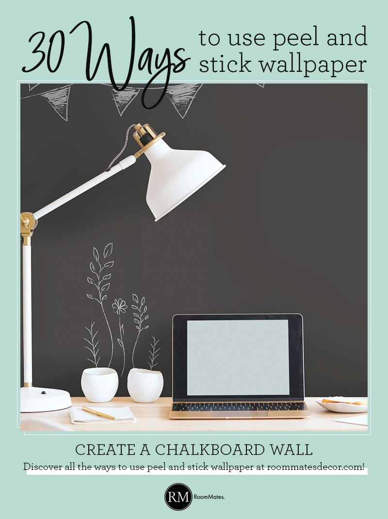 Chalkboard Peel And Stick Wallpaper Peel And Stick Wallpaper Chalkboard Wall Room Visualizer