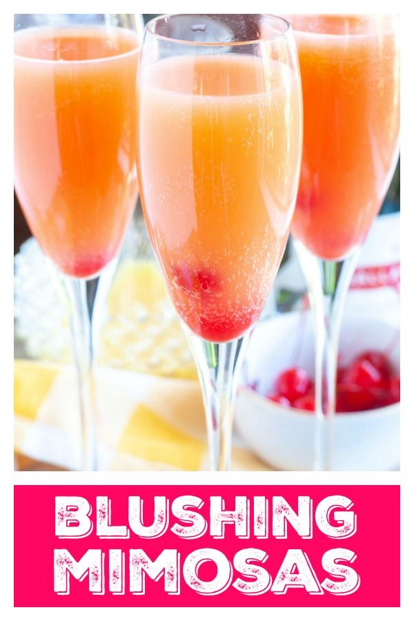 Blushing Mimosa In 2020 Brunch Drinks Champagne Drinks Mimosa Brunch