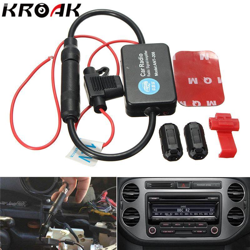 car aerial antenna 12v car automobile radio signal amplifier ant 208 rh pinterest co uk