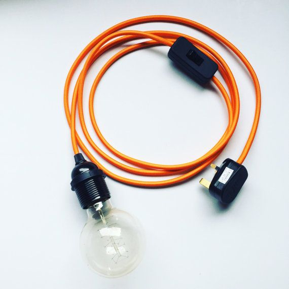 Orange Flex Electrical Cable Set Bakelite Industrial Urban Light ...