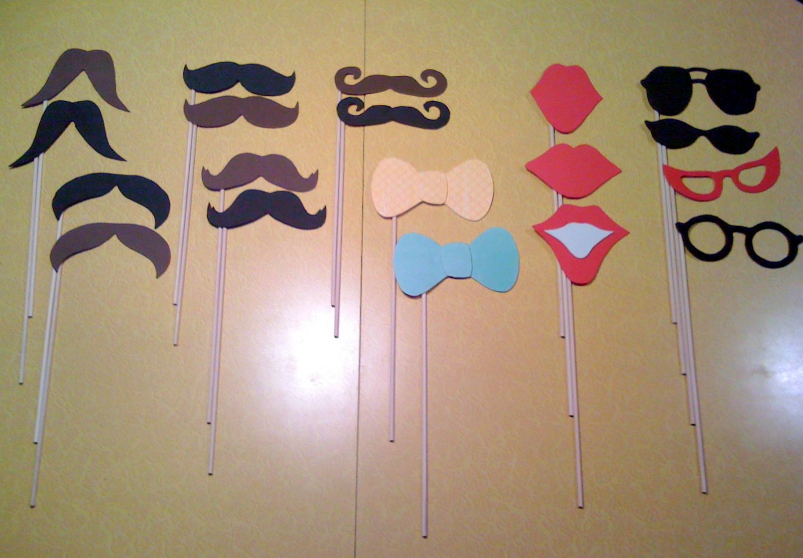 My first DIY venture Photo booth props