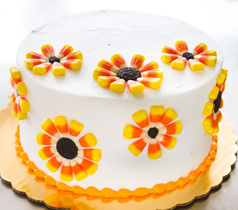 A candy corn \ - Halloween Cake Decorating Ideas