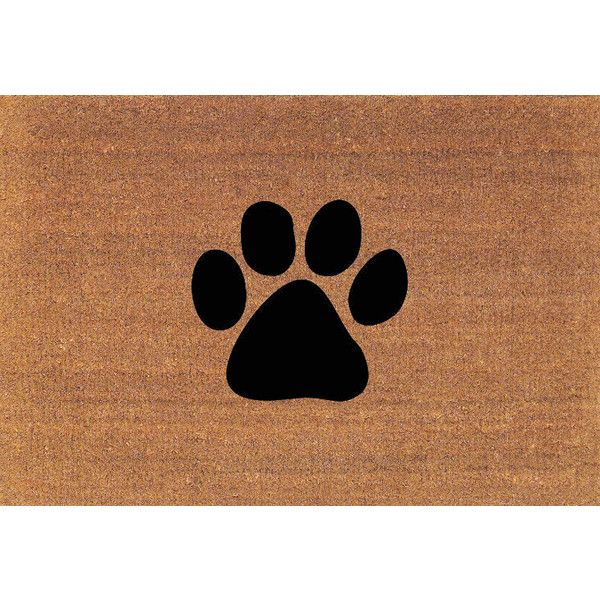 Paw Print Dog Paw Cat Paw Door Mat Coir Doormat Rug Large 23.75 Inches.