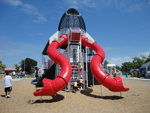 Rocket Ship Play Structure In Freedom Park North Highlands Ca Playgrounds Architecture Playground Family Fun Day