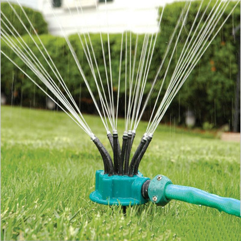 Marvelous 12 Arm Watering Head Garden Suppliers Sprinkler Auto Irrigation Cooling  Rotary Lawn Sprinkler Water Save Equip