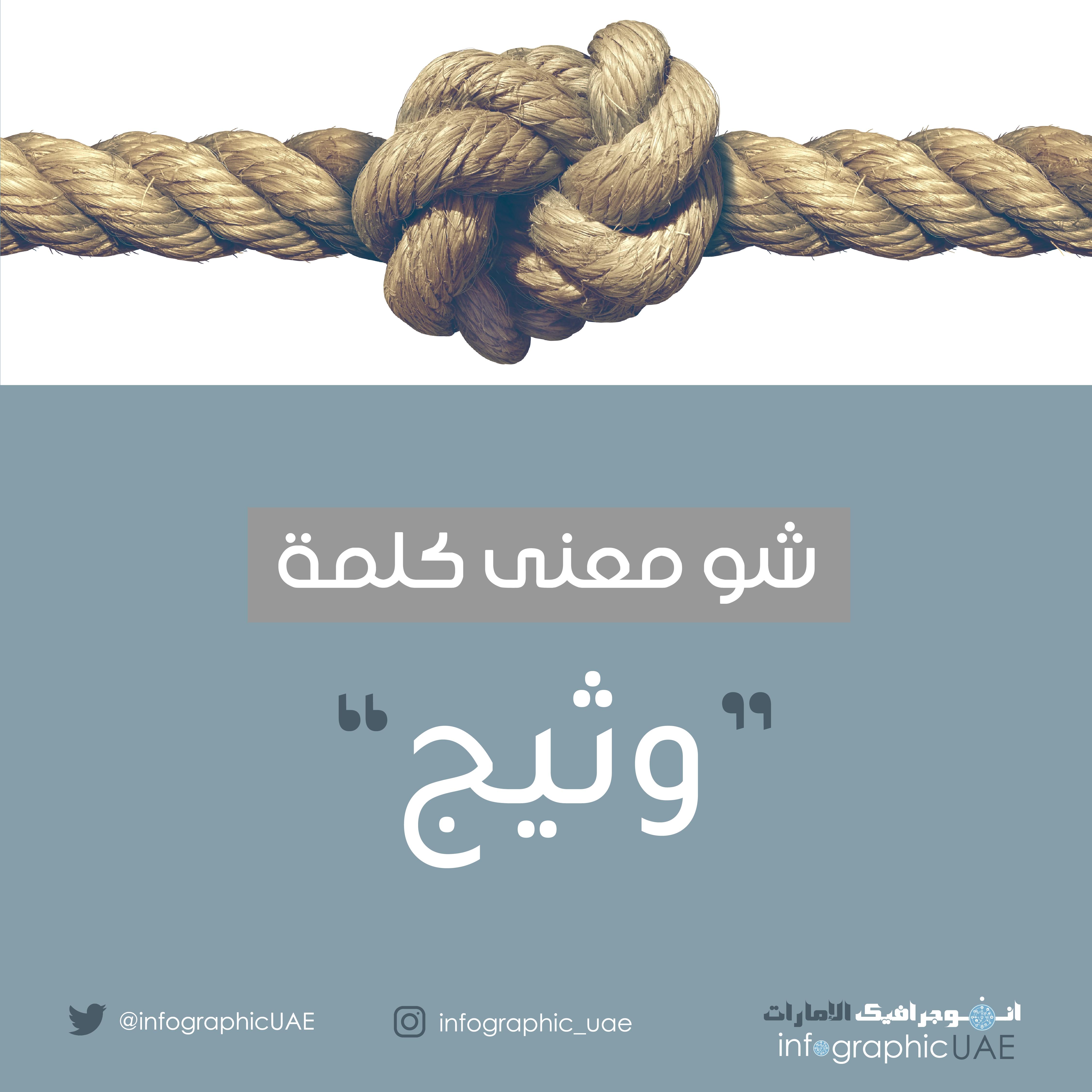 شو معنى كلمة وثيج باللهجة الاماراتية Infographic