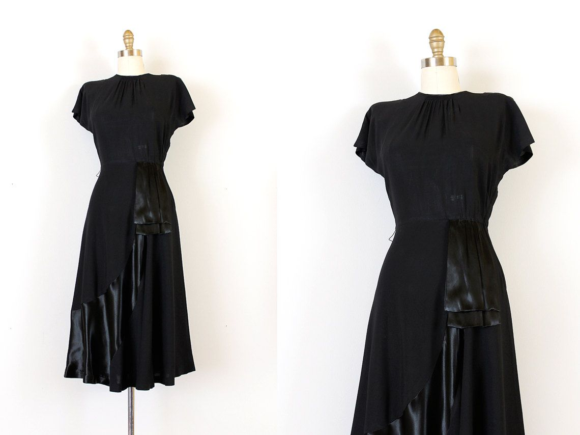 Vintage s dress s black evening dress by trunkofdresses on