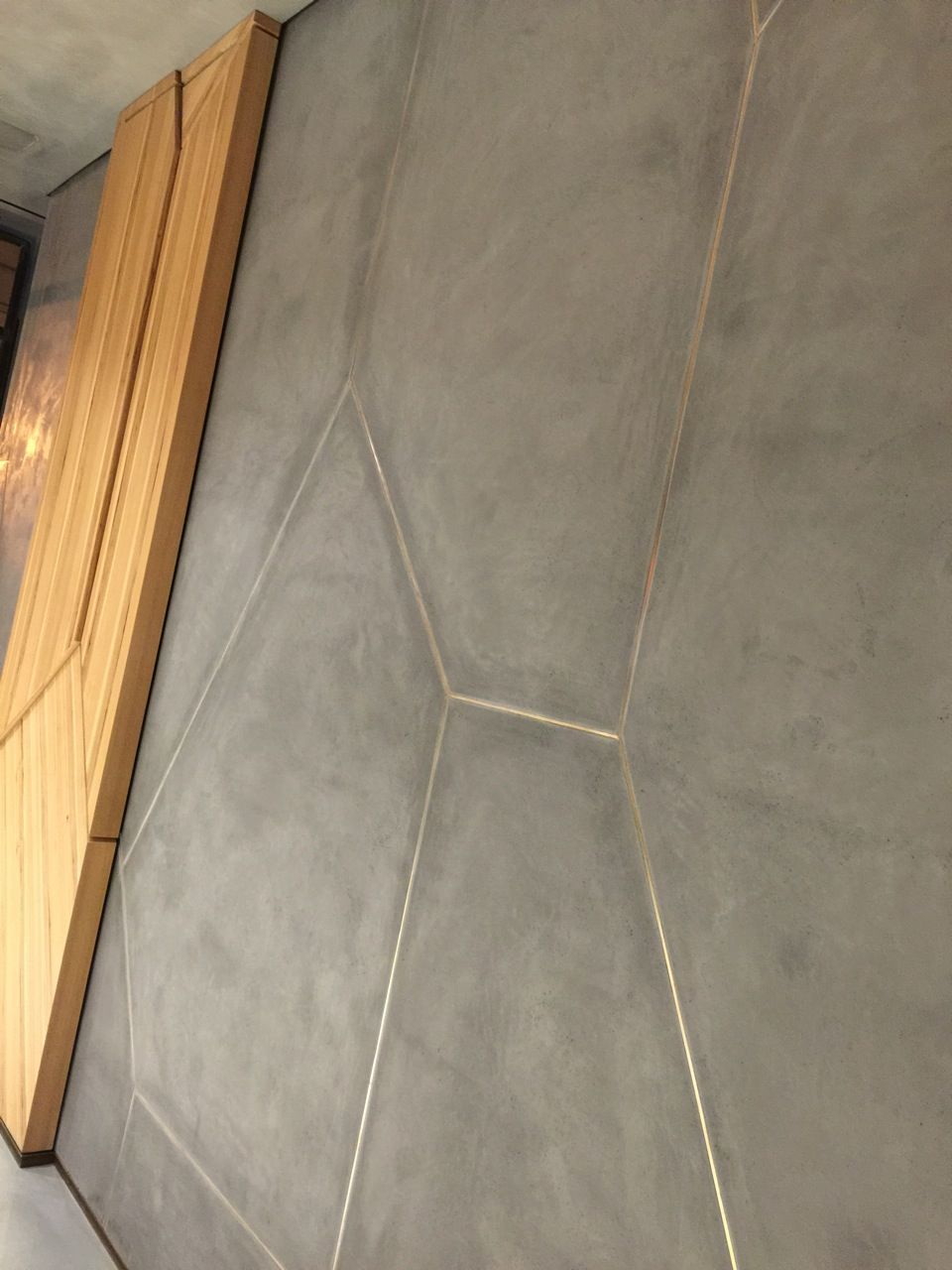 Troweled Concrete Wall Finish Concrete Tile Floor Concrete Wall Inlay Flooring