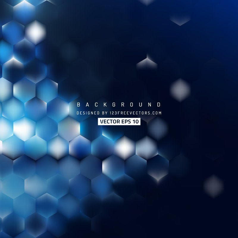 Abstract Blue Black Hexagon Background Abstract Free Vector