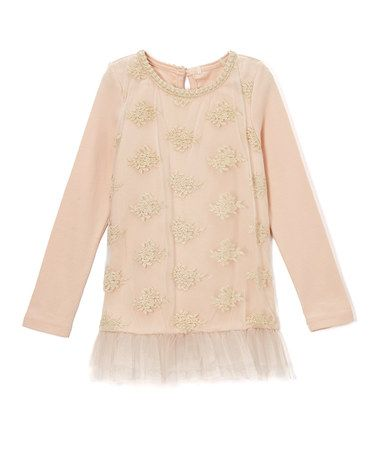 Peach Lace-Accent Tunic - Infant, Toddler & Girls #zulily #zulilyfinds