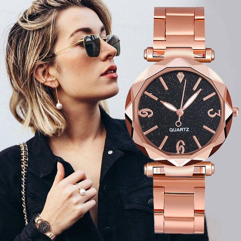 Women Watches Stainless Steel Band Luxury Bracelet Quartz Magnet Buckle Starry Sky Wrist Watch Ladie