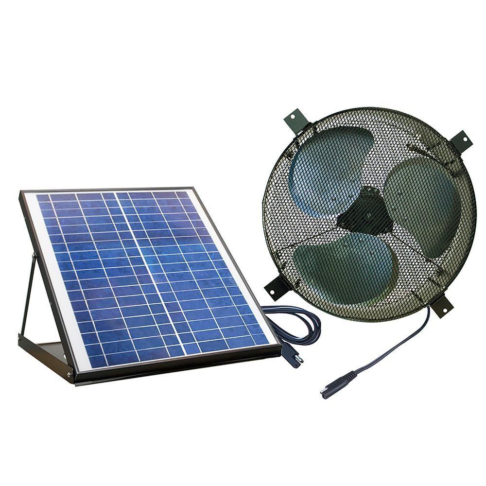 Nature Power Solar Powered 20 Watt Polycrystalline Panel Covering 1350 Cfm Black Indoor Outdoor Gable Mount Attic Fan Solar Panel Cost Best Solar Panels Solar Panels