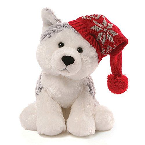 "Gund Christmas Flurry Husky Plush, 8""/Medium GUND https"