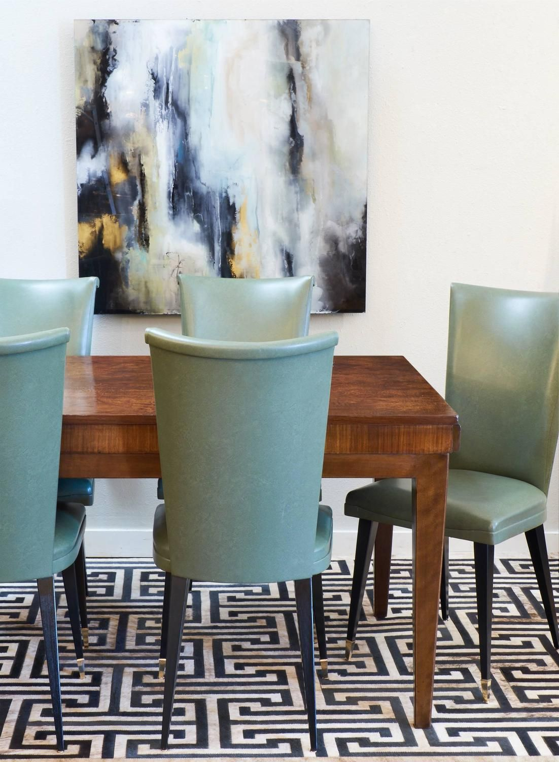 french mid century set of six dining chairs - Set Of Six Dining Room Chairs