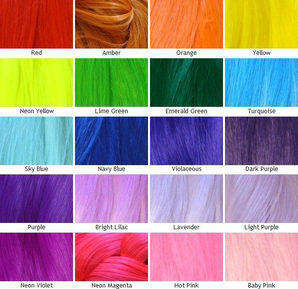 Unnatural Hair Dye Color Chart Google Search Beauty Pinterest