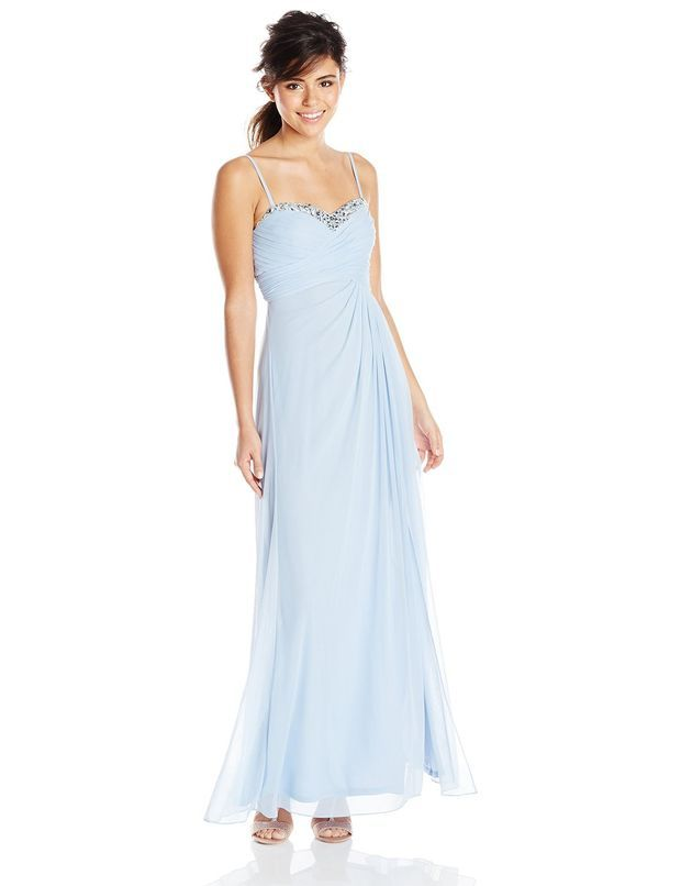 Hailey Logan By Adrianna Papell Womens Ruched Bust Long Gown