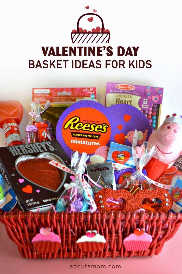 Valentine S Day Basket Ideas For Kids Gift Ideas Pinterest
