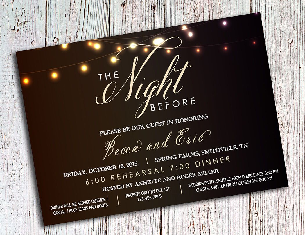 Rehearsal Dinner Invitations Rustic Party Invitations