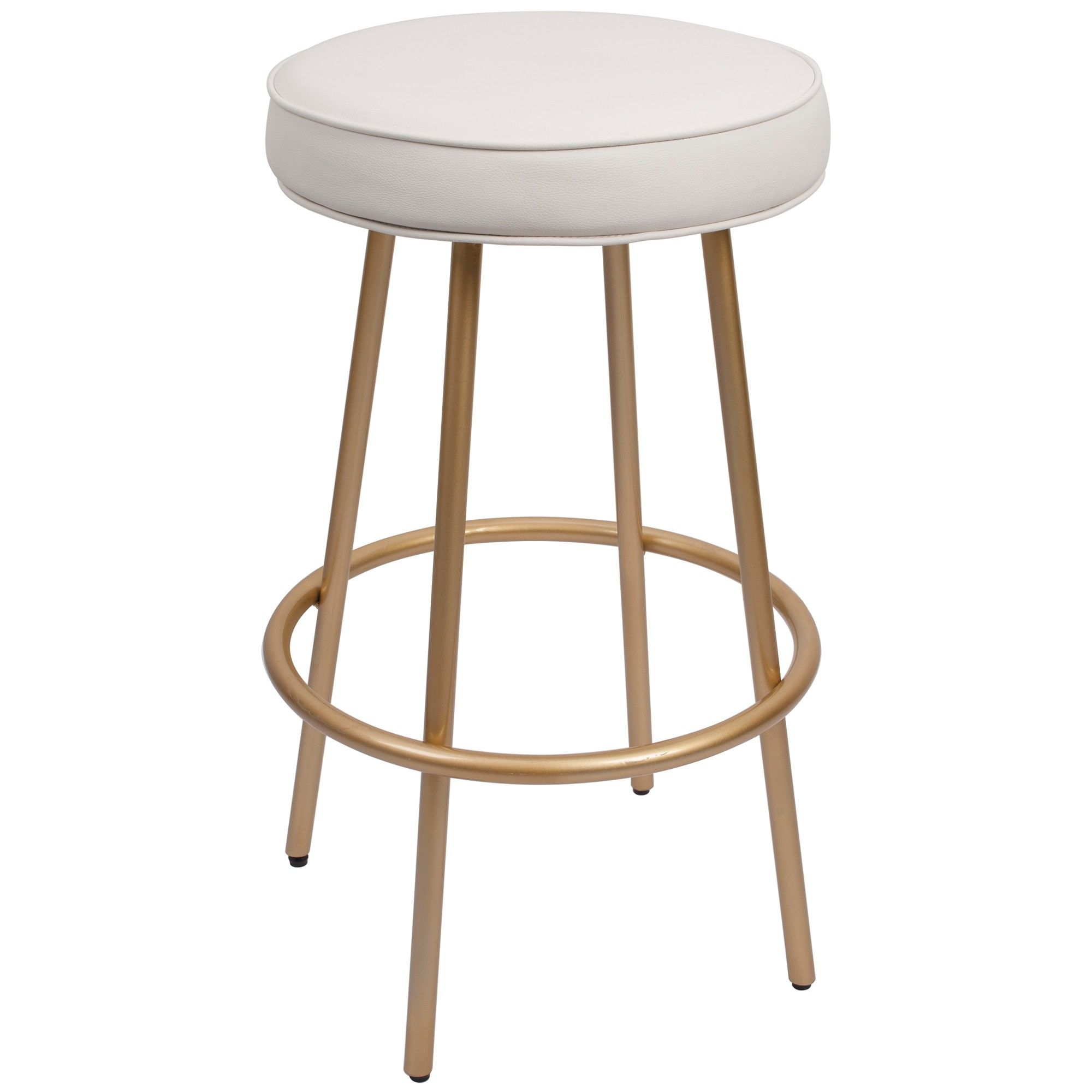 29 Carly Modern Backless Barstool With Round Upholstered Seat In Gunmetal Silverwood Backless Bar Stools Upholstered Bar Stools Bar Stools
